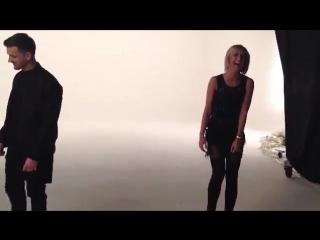 Ольга Бузова со съёмок клипа DJ KAN и нового артиста лейбла Black Star Миши Марвина на песню