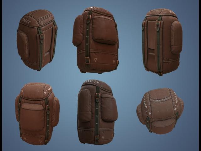3D Coat Texturing backpack