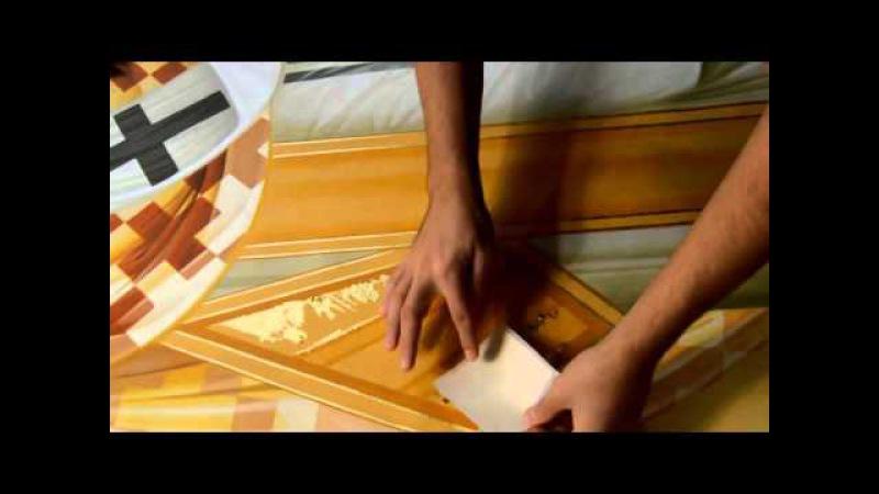 Poleirea cu asiste de aur gilding a byzantine icon