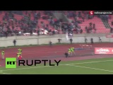 В Боснии и Герцеговине фанаты подрались на футбольном поле в перерыве между таймами