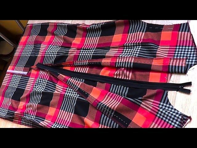 Обработка потайного замка в платье