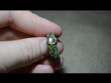 Древесное кольцо с лунным камнем.
