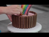 Skittles Rainbow Cake! How to make a Skittles Cake - Cupcake Addiction Cupcakes Cardio!