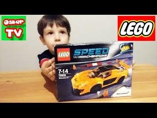 LEGO McLaren Speed Champions ЛЕГО конструктор гонка Макларен Оскар ТВ распаковка