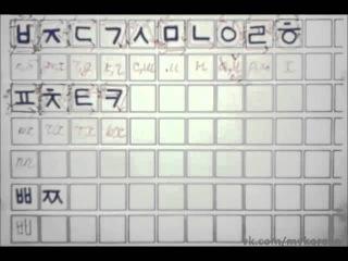 Корейский язык. Хангыль, часть 3. Согласные.