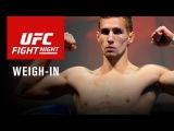 Прямая трансляция церемонии взвешивания участников турнира UFC Fight Nigth 90.