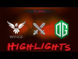 HIGHLIGHTS! Wings vs OG @ TI 2016
