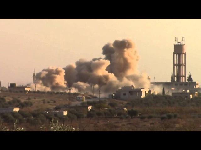 Сирия. Кадры авиаудара по объекту террористов в провинции Идлиб