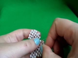 Обьемная шкатулка-сердце из бисера. Плетение из бисера. Бисероплетение