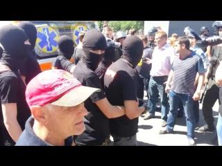Киев. 6 июня,2015. Столкновения на гей-параде. Оболонь. (полное видео)