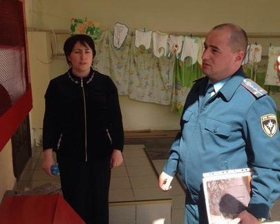 В детском саду станицы Кардоникской проверили пожарную безопасность