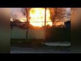 В Кизляре на одной из АЗС произошел пожар и прогремел мощный взрыв - Первый канал
