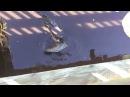 Крокодилы борются с аллигаторами за свободное место и еду, Crocodile vs alligator fighting over space and food