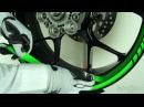 Motoinkz fluorescent green wheel stripes tape