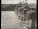 Перекрытие реки Обь при строительстве ГЭС, 1956
