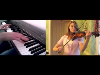 Кавер на скрипке - Принцесса Мононоке  | Princess Mononoke Theme -  Violin and Piano Collaboration with TamaThps
