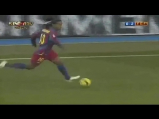 Гол Роналдиньо в ворота Реала
