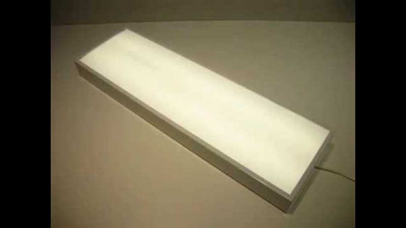 Светодиодный светильник VARTON офисный встраиваемыйнакладной 595*180*50мм 18 ВТ 4000К