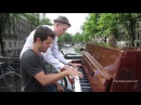 Spontaneous Jazz Piano Duet on a Bridge in Amsterdam