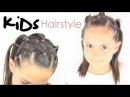 Peinado para niñas coletas cruzadas