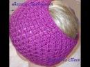 Ажурная повязка узором ромбы Knitted headbands