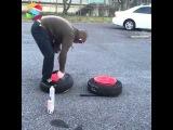 Бортировка колёс ВЗРЫВОМ