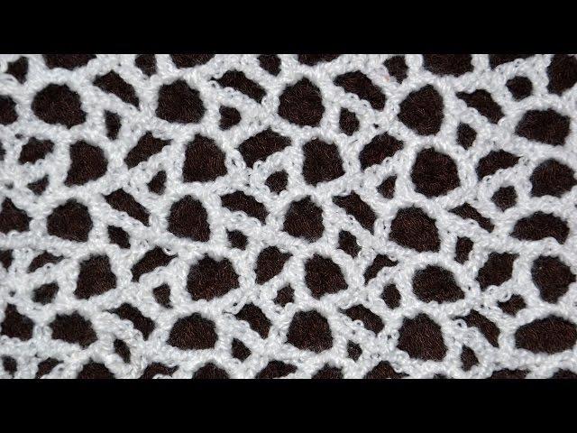 ♥ Красивая сеточка крючком • Имитация нерегулярной сеточки • Crocheted mesh