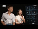 Game of Thrones: Interview with Tom Wlaschiha and Maisie Williams for HBO Asia