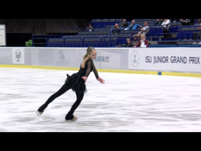 2016 ISU Junior Grand Prix Ostrava Ladies Short Program Alisa LOZKO RUS