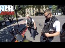 Forget the uniform, ignore the guns, just a conversation between 3 bikers