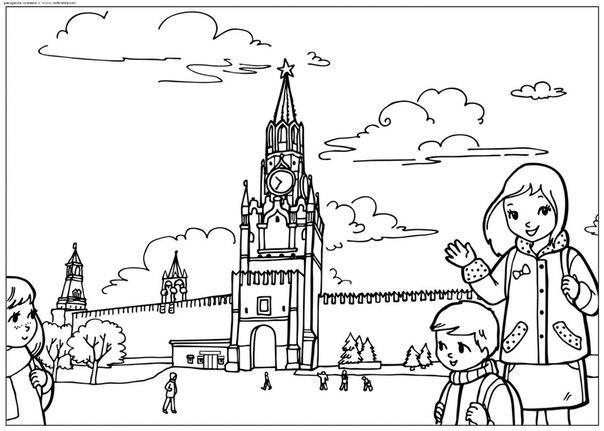 Раскраска Раскраски российской архитектуры скачать
