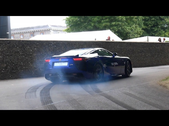 Crazy Lexus LFA Revs drift burnout and flat out accelerations