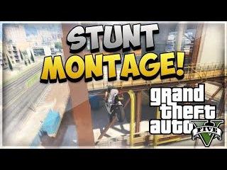 AMAZING GTA 5 STUNTS! (GTA V Stunt Montage)