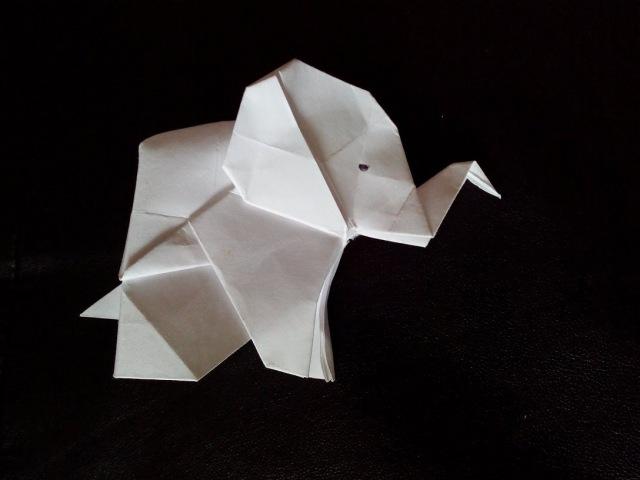 Слон оригами, origami Elephant