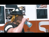 JJ Watt pays tribute to some real heroes as he tries to Beat the Heat as a fire fighter for a day.