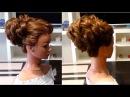 Прическа на выпускной,вечерняя прическа из пышных жгутов. Объемная прическа Prom evening hairstyle