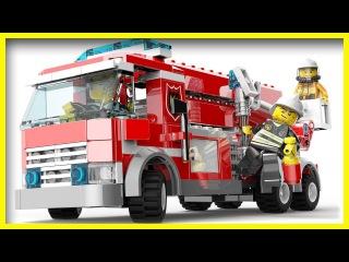 Мультфильм Лего Сити: Чейз Маккейн и пожарная машина #19. Лего мультики. #Мультики про машинки детям