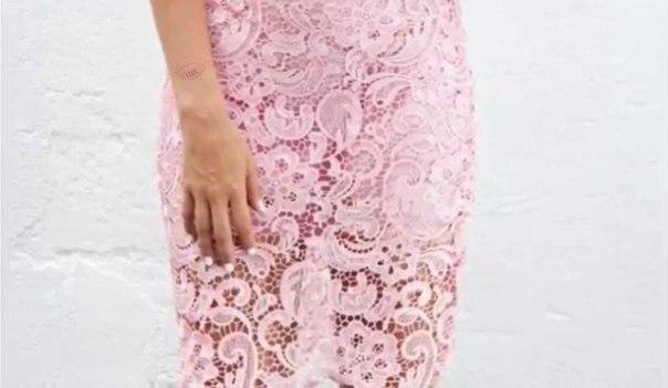 Сшить юбку из кружева на резинке