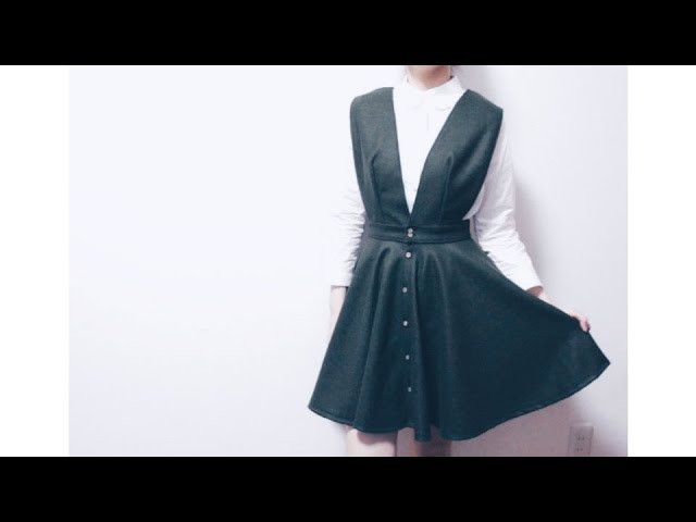 DIY Button Front Circle Skirt Dress / Sewing Tutorialㅣmadebyaya