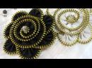 Como hacer broches flor con cremallera Zipper brooch