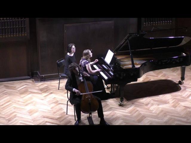 П.И.Чайковский Пеццо-Каприччиозо Op. 62. Исп. А. Рамм (виолончель) и М. Немцова (фортепиано)