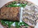 Мясной рулет с орехами и сыром. Мясная закуска (meatloaf)