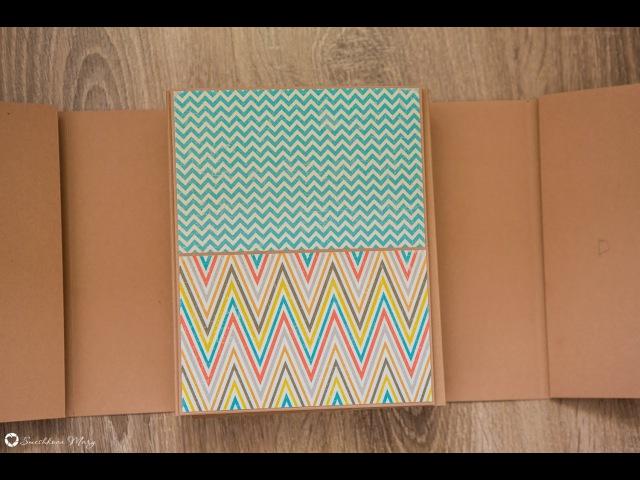 Фотопапки. Дизайн страницы A и А2. Один горизонтальный карман.