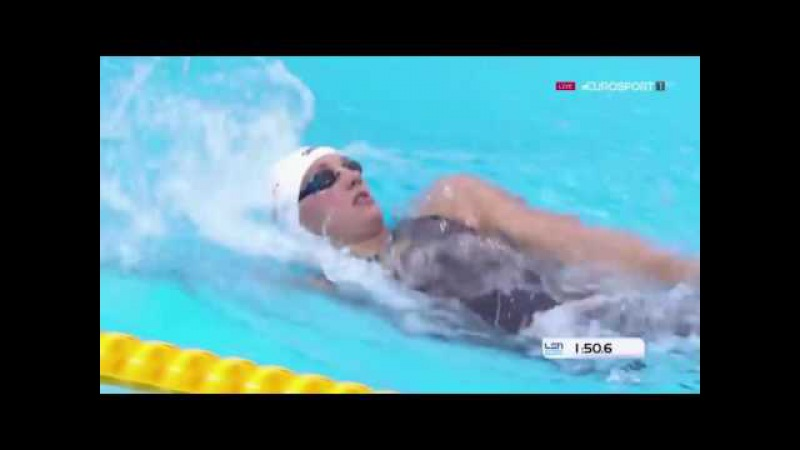 Katinka Hosszu Wins Women's 400m Medley Final LEN European Swimming Championships London 2016