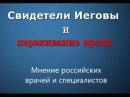 Свидетели Иеговы и переливание крови Мнение российских врачей и специалистов