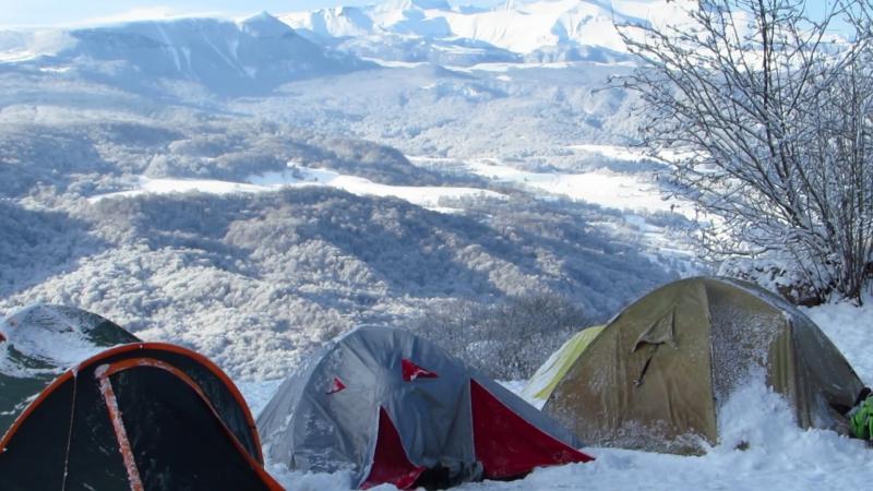 Утро в горах Кабардино-Балкарии. Пос. Лечинкай.