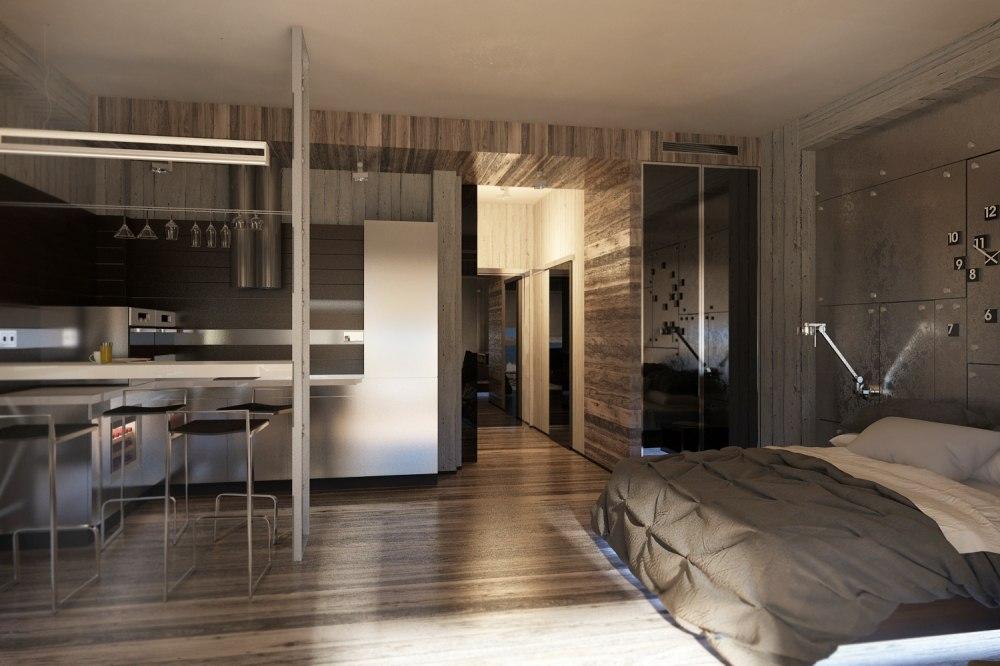 Концепт квартиры без точного метража.
