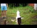 Цветной фонтан из пены [720p]