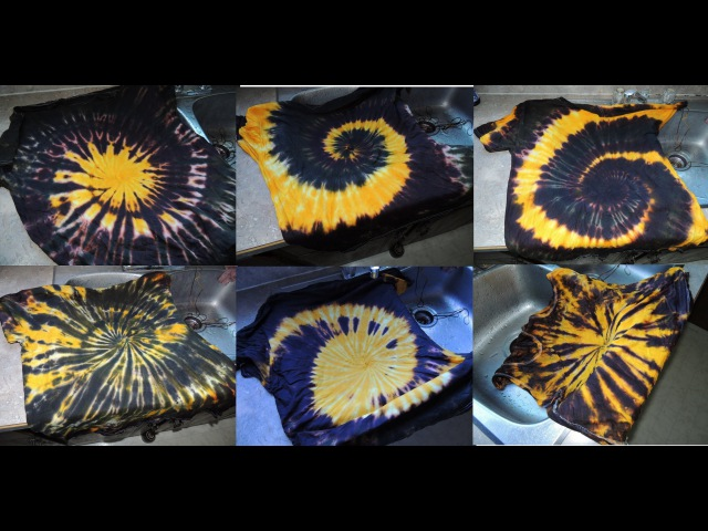 Six Different Ways To Apply Dye To THE SPIRAL tie dye spin