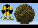 Взрыв 1000 Атомных Бомб В Майнкрафт